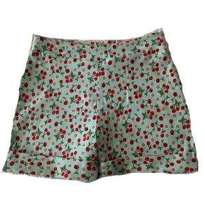 Bettie Page Cherry Print Hot Time Shorts